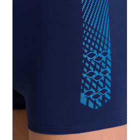 arena Feather Shorts Jongens, navy/turquoise